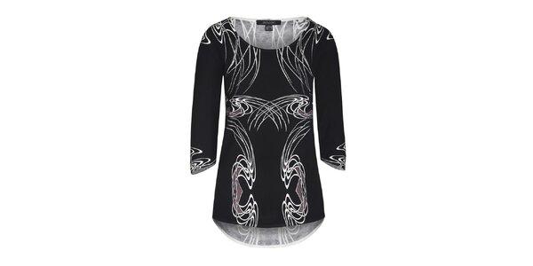 Dámsky čierny sveter s bielym vzorom Imagini