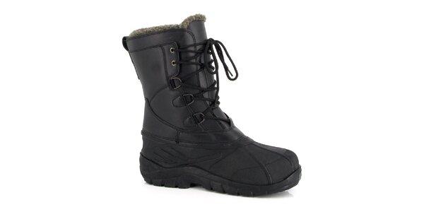 Čierne zimné topánky Kimberfeel