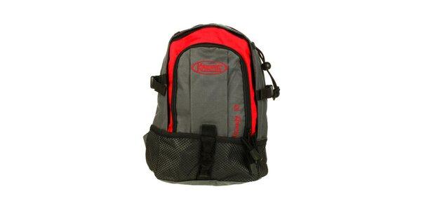 Červeno-šedý ruksak Kimberfeel