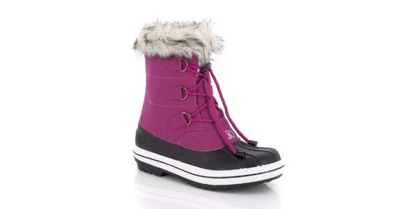 Dámske fialové snehule s kožúškom Kimberfeel