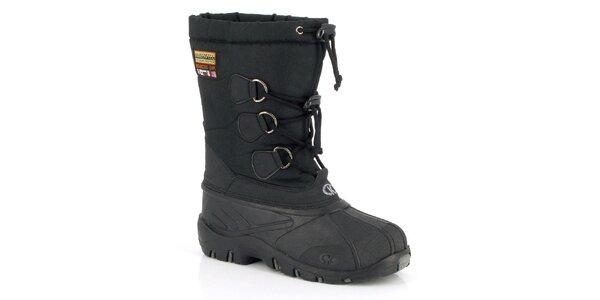 Unisex čierne zimné topánky Kimberfeel