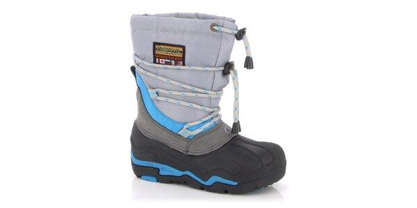 Zimné topánky Kimberfeel - s modrými prvkami