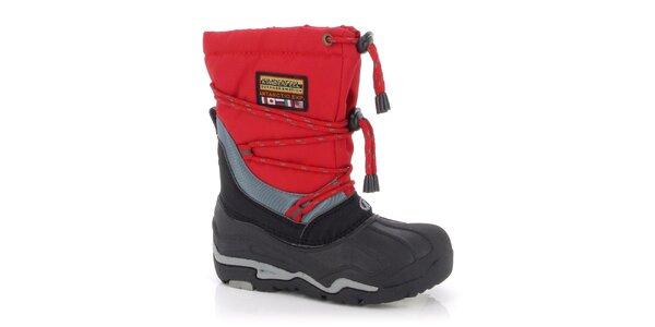 Zimné topánky Kimberfeel - červené
