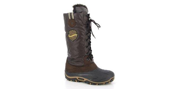 Dámske hnedé zimné topánky Kimberfeel