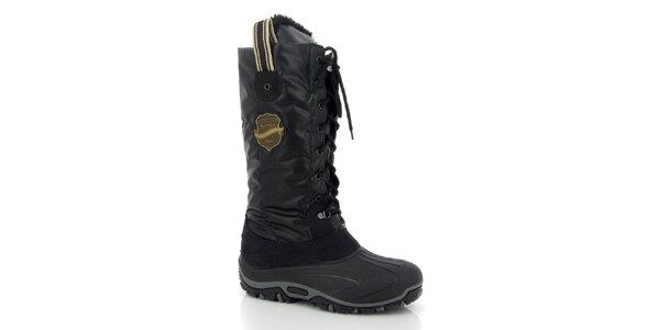 Dámske čierne zimné topánky Kimberfeel