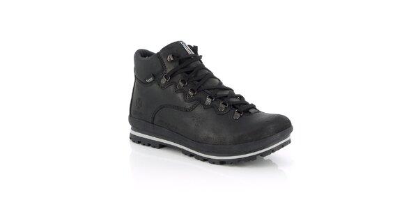 Pánske zimné vodotesné čierne topánky Kimberfeel