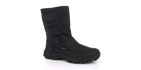 Pánske zimné vyššie čierne topánky Kimberfeel