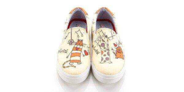 Dámske loafers s mačacou kapelou Elite Goby