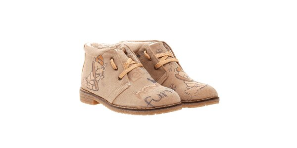 Dámske zimné členkové topánky s medvedíkom Elite Goby