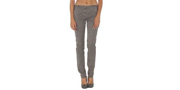 Dámske šedé nohavice s vreckami Tommy Hilfiger