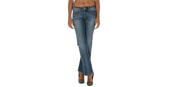 Dámske modré džínsy s jemným šisovaním Tommy Hilfiger