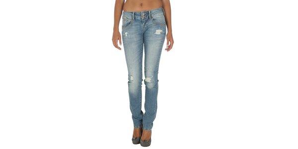 Dámske svetlo modré džínsy s odreninami Tommy Hilfiger