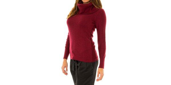 Dámsky červený sveter s golierom Tommy Hilfiger