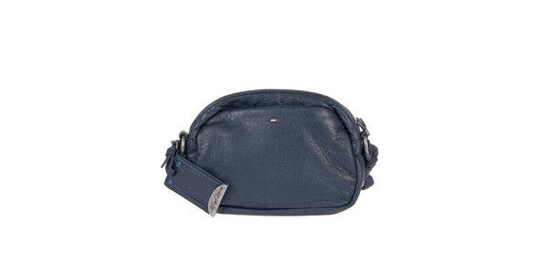 Dámska tmavo modrá kabelka s dekoratívnym prešívaním Tommy Hilfiger
