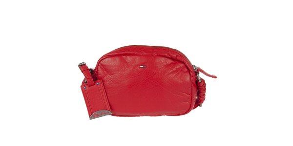Dámska červená kabelka s dekoratívnym prešívaním Tommy Hilfiger