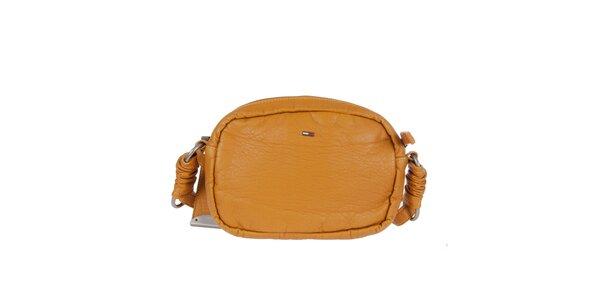 Dámska kabelka s dekoratívnym prešívaním v horčicovom odtieni Tommy Hilfiger