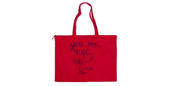 Dámska červená obdĺžniková taška Tommy Hilfiger