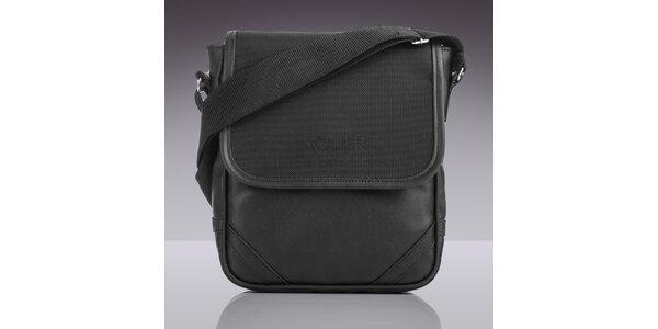 Pánska čierna taška ce rameno Solier