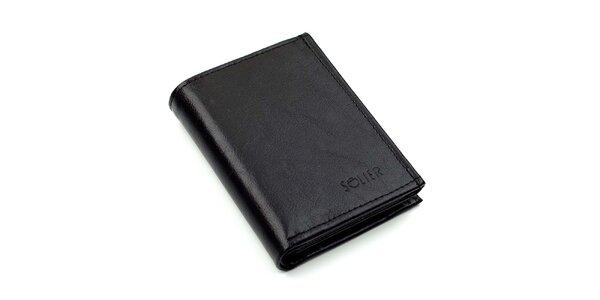Pánska kožená peňaženka v čiernej farbe Solier