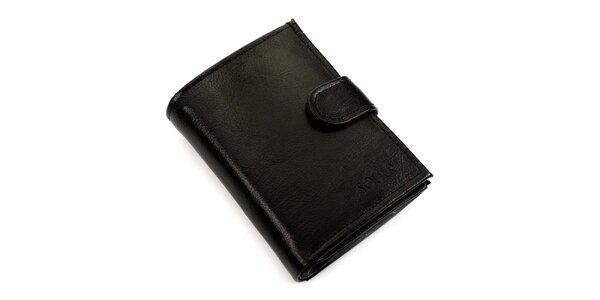 Pánska čierna kožená peňaženka Solier