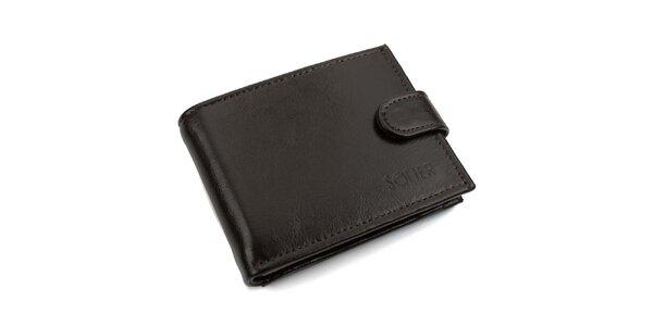 Pánska hnedá kožená peňaženka s prackou Solier