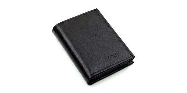 Pánska obdĺžniková kožená peňaženka Solier