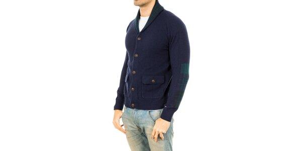Pánsky modrý sveter s gombíkmi Tommy Hilfiger