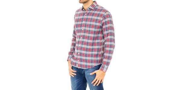 Pánska viacfarebná košeľa s dlhým rukávom Tommy Hilfiger