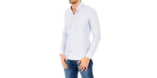 Pánska svetlo modrá bavlnená košeľa Tommy Hilfiger