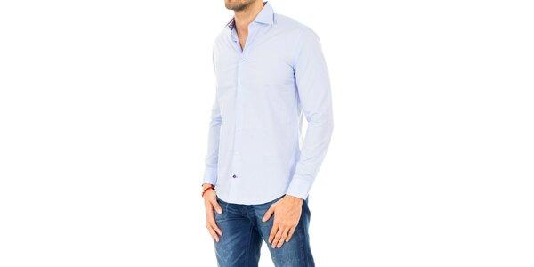 Pánska svetlo modrá košeľa s dlhým rukávom Tommy Hilfiger
