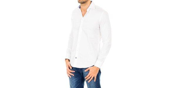 Pánska bavlnená košeľa v bielej farbe Tommy Hilfiger