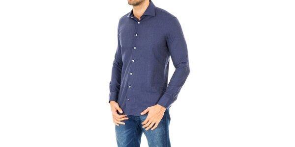 Pánska košeľa v modrej farbe Tommy Hilfiger