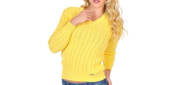 Dámsky žltý svetrík s plastickým vzorom Giorgio di Mare