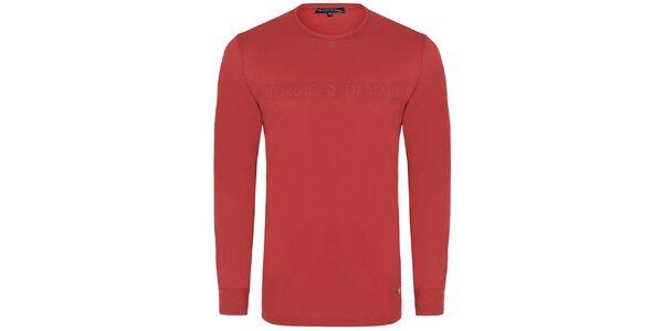 Pánske červené tričko s dlhým rukávom Giorgio di Mare