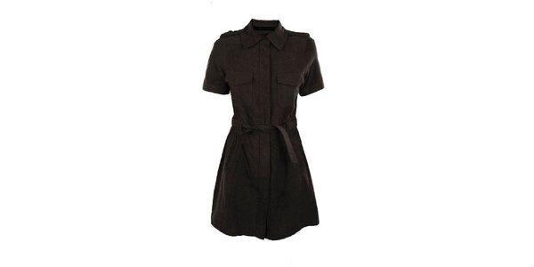 Dámsky hnedý kožený kabátik Company&Co