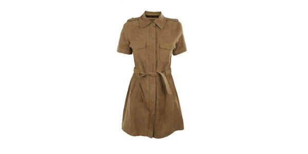 Dámsky béžový kožený kabátik Company&Co