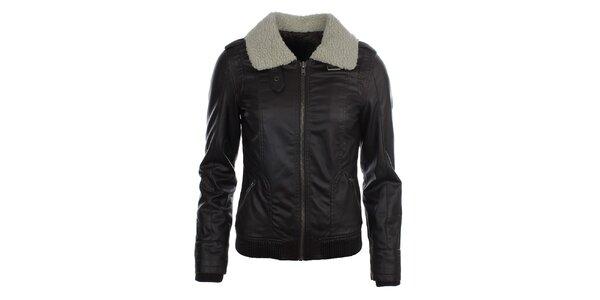 Dámska koženková bunda s ovečkou COMPANY&CO