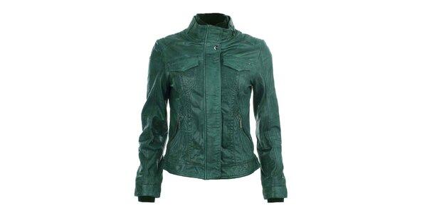 Dámska zelená kožená bunda COMPANY&CO