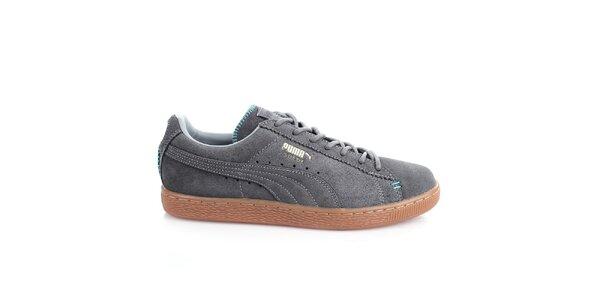 Pánske šedé prešívané topánky Puma