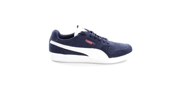 Pánske semišové modro-biele tenisky Puma