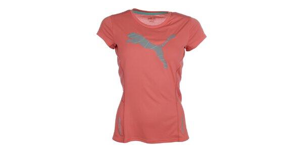 Dámske svetlo ružové fitness tričko Puma