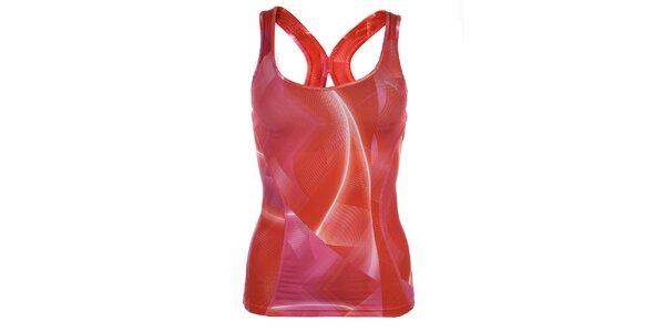Dámske červeno-ružové športové tielko Puma