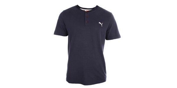 Pánske modré tričko s gombíkmi Puma