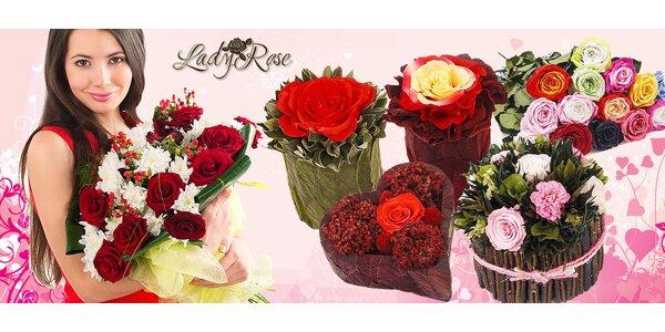 Valentínske darčeky z večných ruží
