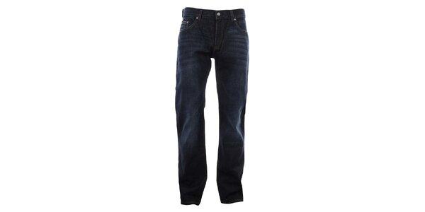 Pánske tmavo modré džínsy so šisovaním Big Star