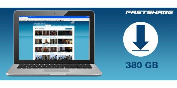 FastShare.cz - kredit 380 GB na hudbu, videá i dáta!