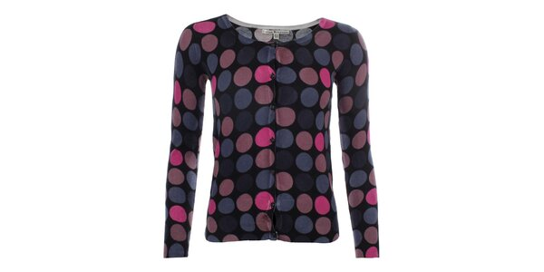Dámsky čierny svetrík s farebnými bodkami Uttam Boutique
