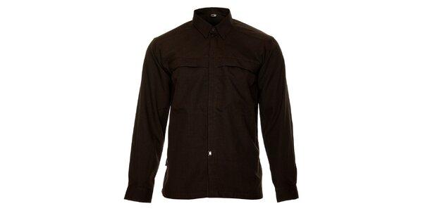 Pánska tmavo hnedá košeľa Hannah