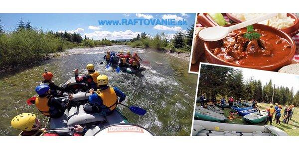 Raftovanie na slovenskej rieke Belá máj 2015