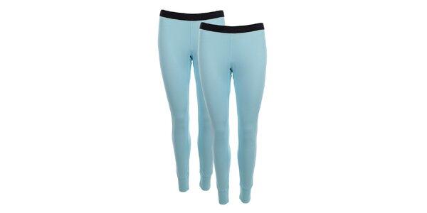 Dámska sada 2 svetlo modrých priliehavých nohavíc Hannah